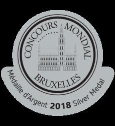 Concours mondial de Bruxelles v Číne (2018) strieborná medaila