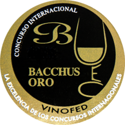 Bacchus Wine International Competition Španielsko (2018) zlatá medaila