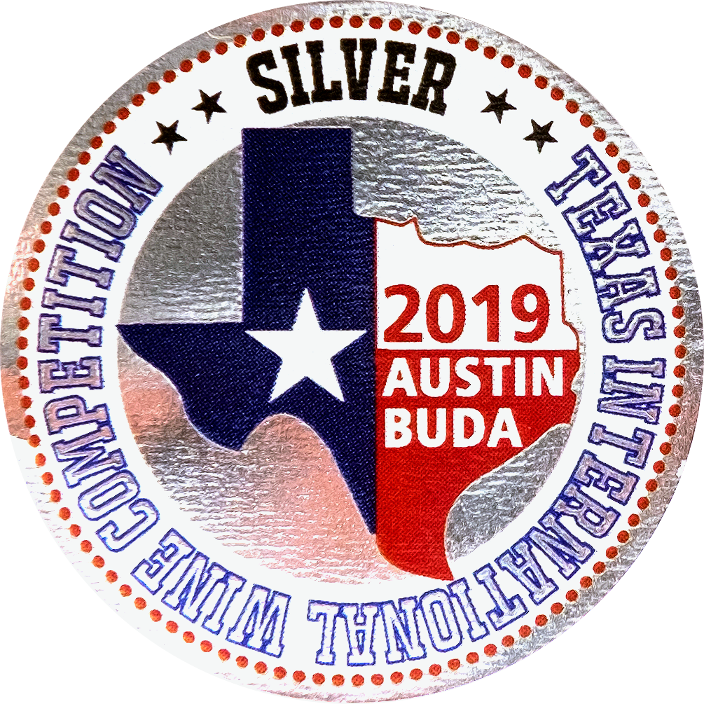 Medaila - Texas international Wine competition (2019) strieborná medaila